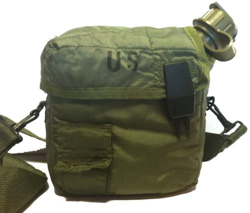 GI Issue DO Green 2 Qt Canteen and Insulated Cover
