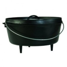 Lodge 12 Inch Deep Cast Iron Camp Dutch Oven 8 Qt