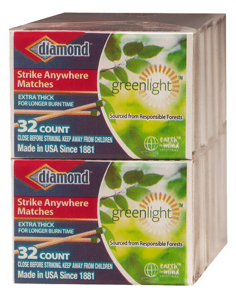 Diamond Greenlight Strike Anywhere Penny Matches