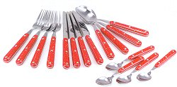 GSI Pioneer Cutlery Set 16 pc. Red