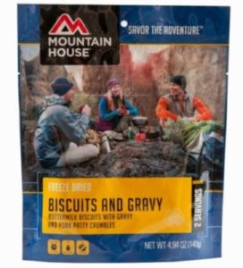 Mountain House Freeze Dried Biscuits and Gravy 2 Servings