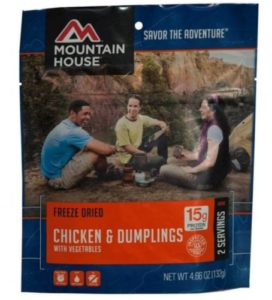 Mountain House Freeze Dried Chicken Dumplings with Vegetables 2 Servings