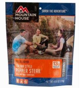 Mountain House Freeze Dried Italian Style Pepper Steak with Rice and Tomatoes 2.5 Servings