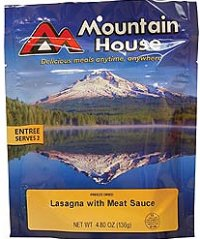 Mountain House Freeze Dried Lasagna with Meat Sauce 2 Servings