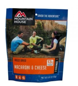 Mountain House Freeze Dried Macaroni & Cheese 3 Servings