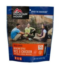 Mountain House Freeze Dried Mexican Style Rice & Chicken 3 Servings