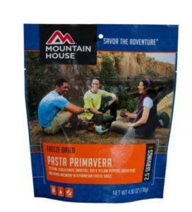 Mountain House Freeze Dried Pasta Primavera 2.5 Servings