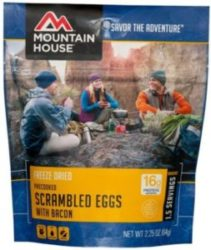 Mountain House Freeze Dried Scrambled Eggs with Bacon, precooked 1.5 Servings