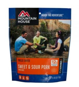 Mountain House Freeze Dried Sweet & Sour Pork with Rice 2.5 Servings